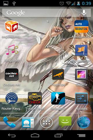 Live Wallpaper Winged Woman