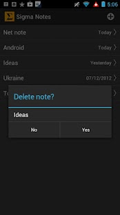 Sigma Notes - Notepad for you - screenshot thumbnail