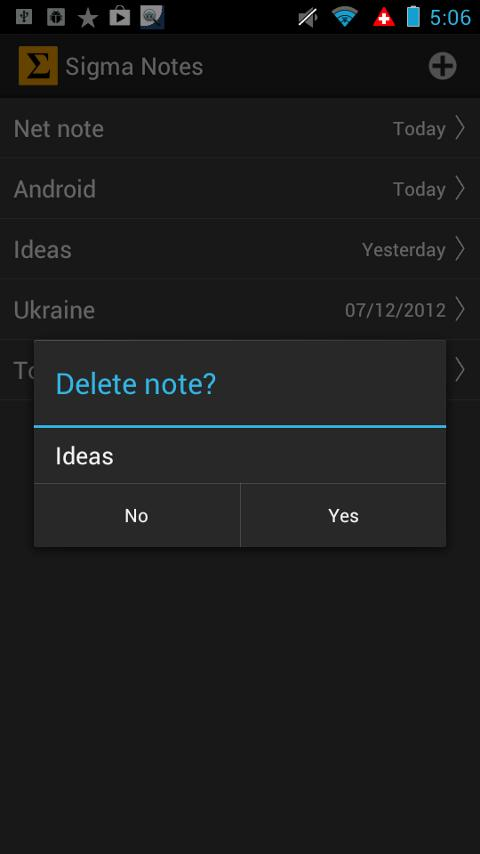 Sigma Notes - Notepad for you - screenshot