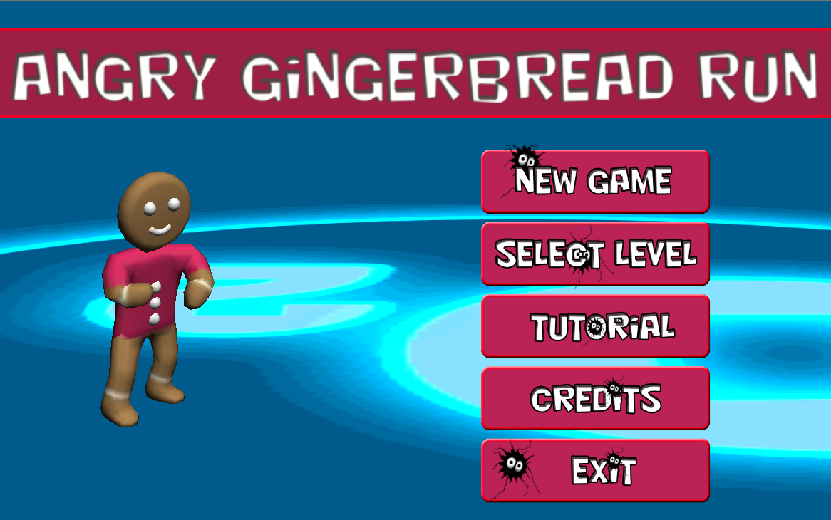 Angry gingerbread run- screenshot