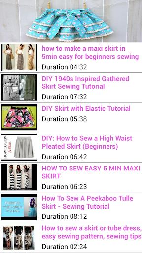 Free Sewing Tutorials Skirt