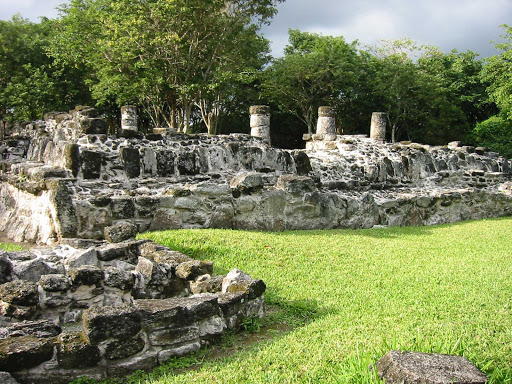 San Gervasio on Cozumel features Mayan ruins including the Plaza Central.