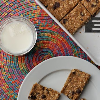 No Bake Peanut Butter Oatmeal Snack Bars