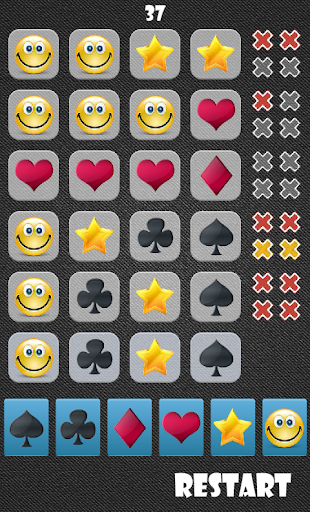 Find 4 in a row Card Game 1.0.0 screenshots 3
