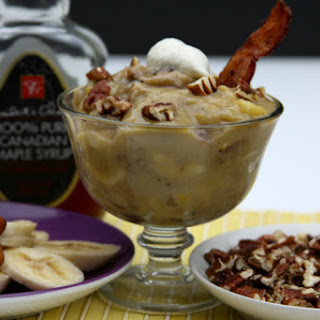Maple Pecan Banana Pudding with Bacon.