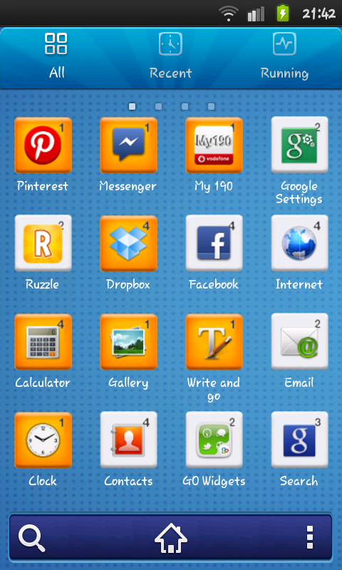 Ruzzle Go launcher theme - screenshot