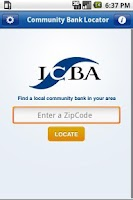 Screenshot of Community Bank Locator