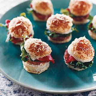 Mini Salami Puff Sandwiches