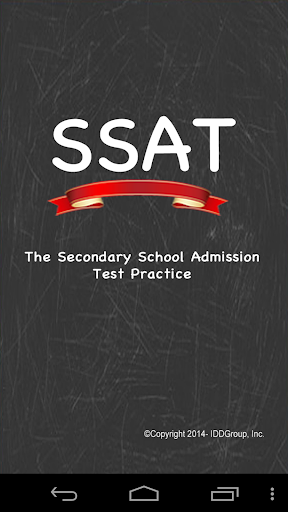 SSAT - Secondary School Test