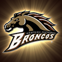 Western Michigan Broncos Clock logo