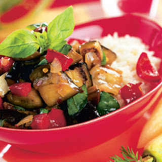 Thai Spicy Eggplant with Sweet Basil.