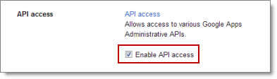 Domain Settings, Enable provisioning API