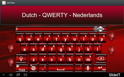 SlideIT Dutch QWERTY Pack - screenshot thumbnail
