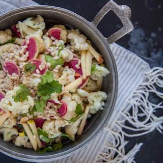 Winter Cauliflower and Barley Salad with Ginger Sesame Vinaigrette