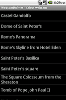 Screenshot of Rome Webcams