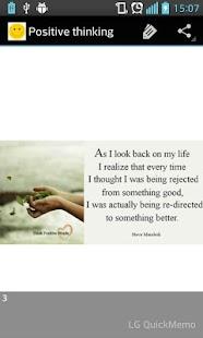Positive Thinking - náhled