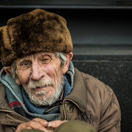 Winter Begging by Costin Mocanu - Novices Only Portraits & People ( beg, sad, dramatic, poor, portrait )