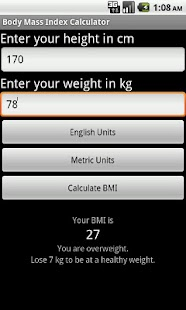 SapphApps BMI Calculator - screenshot thumbnail