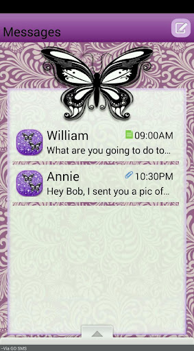 ButterflyQT GO SMS THEME