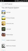 Screenshot of Life Purpose App