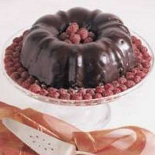 Golden Cake with Boiled Chocolate Icing.
