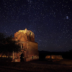 Tumacacori Mission by Ken Miller - Landscapes Starscapes ( national park, arizona, dark sky, landscape, starscape )
