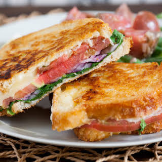 Heirloom Tomato & Fontina Grilled Cheese Sandwiches with Dijon Green Beans.