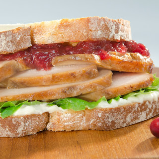 Turkey and Cranberry Sandwiches.