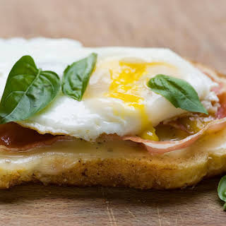 Grilled Provolone, Egg and Pancetta Sandwiches.