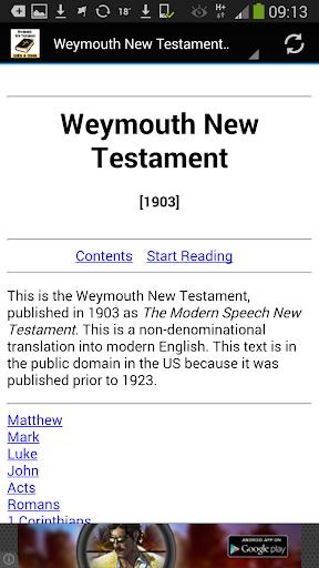 【免費書籍App】Weymouth New Testament-APP點子
