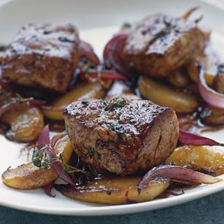 Glazed Pork Tenderloin with Pear and Thyme