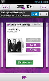 Absolute Radio 90s - screenshot thumbnail