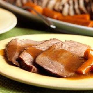 Perfect BBQ Beef Gravy and Pot Roast.