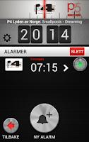Screenshot of P4 Klokkeradio