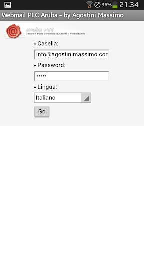 Webmail PEC Aruba