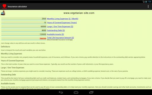 【免費財經App】Insurance Life Calculator-APP點子