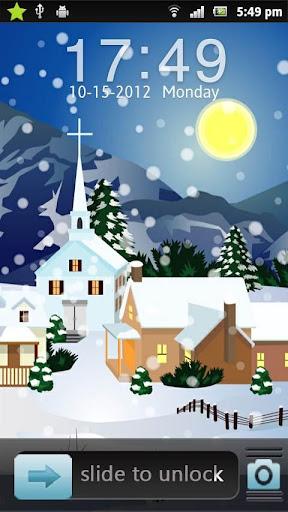クリスマスの雪囲碁ロッカーのテーマ