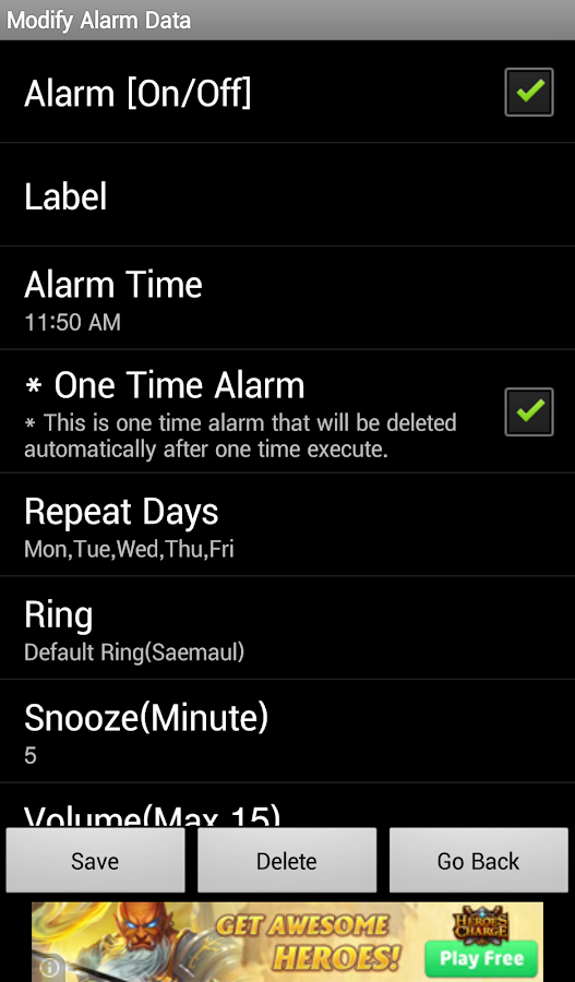 Alarm4Me- screenshot