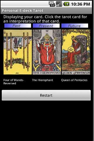 Personal E-deck Tarot - screenshot