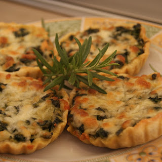 Spinach and Smoked Salmon Tartlets.