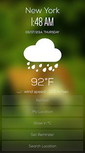 Weather & Clock - screenshot thumbnail