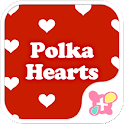 Cute Wallpaper Polka Hearts icon