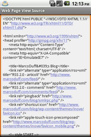 WebPageViewSource- screenshot