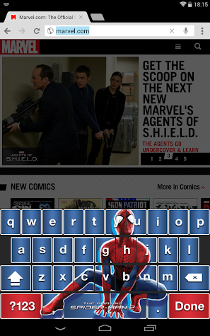 Amazing Spider-Man 2 Keyboard Screenshot