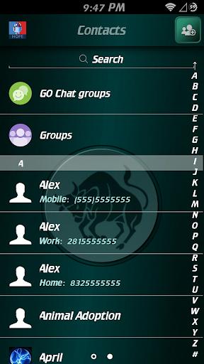 【免費個人化App】GO SMS Pro Taurus Theme-APP點子