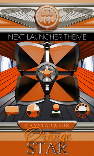Next Launcher theme Orange Sta