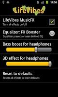 Screenshot of MusicFX