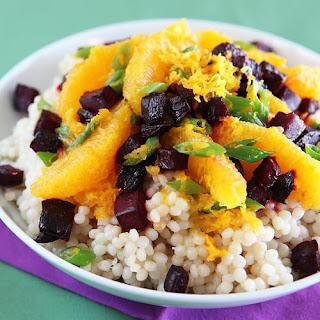 Beet & Orange Salad with Israeli Couscous Recipe