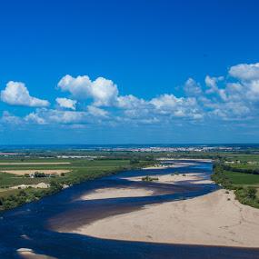 Tejo by Alexandre Mestre - Landscapes Prairies, Meadows & Fields ( tejo, clouds, cloudscape, portugal, santarem, river,  )