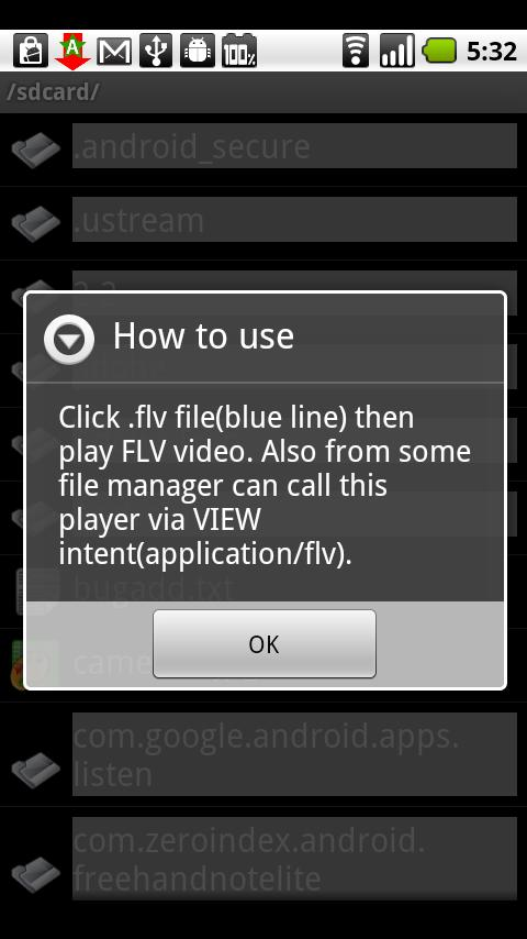 FLV Player (alpha version) - screenshot